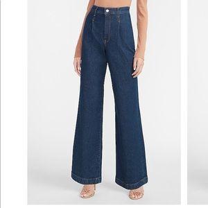 Express Super High Waisted Wide Leg denim Jeans